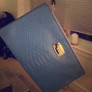 Michael Kors New with tags blue wristlet